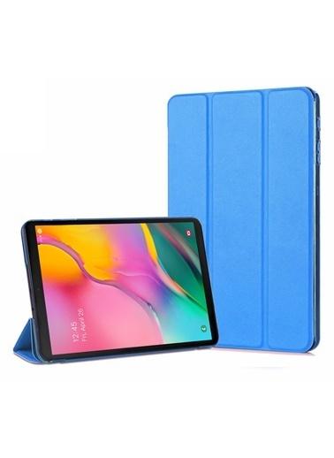 Microsonic Samsung Galaxy Tab A 10.1'' T510 Smart Case ve arka Kılıf Mavi Mavi